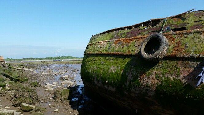Disussed fishing trawler