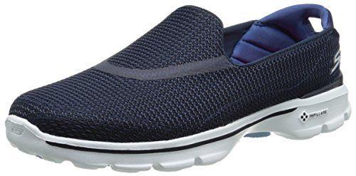 Skechers  GO WALK 3,  Damen Turnschuhe , blau - NVW - Größe: 35 - http://on-line-kaufen.de/skechers/35-eu-skechers-go-walk-3-damen-sneakers-8