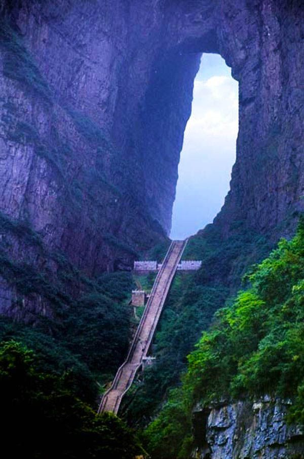 Heaven Gate Mountain, China   |   129 Places Worth Visiting Once in a Lifetime