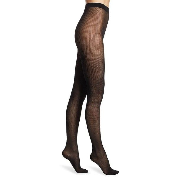Wolford Women's Travel Leg Support Tights ($49) ❤ liked on Polyvore featuring intimates, hosiery, tights, black, patterned pantyhose, travel stockings, patterned tights, wolford stockings and patterned hosiery