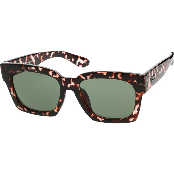 """Quay Australia"" Black & Brown Preppy Sunglasses - TK Maxx"