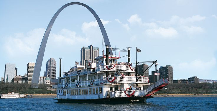 """Near to the Gateway Arch, you can board a riverboat for a one-hour cruise. Save money when you purchase your cruise tickets with your """"Journey-to-the-Top"""" tickets."""