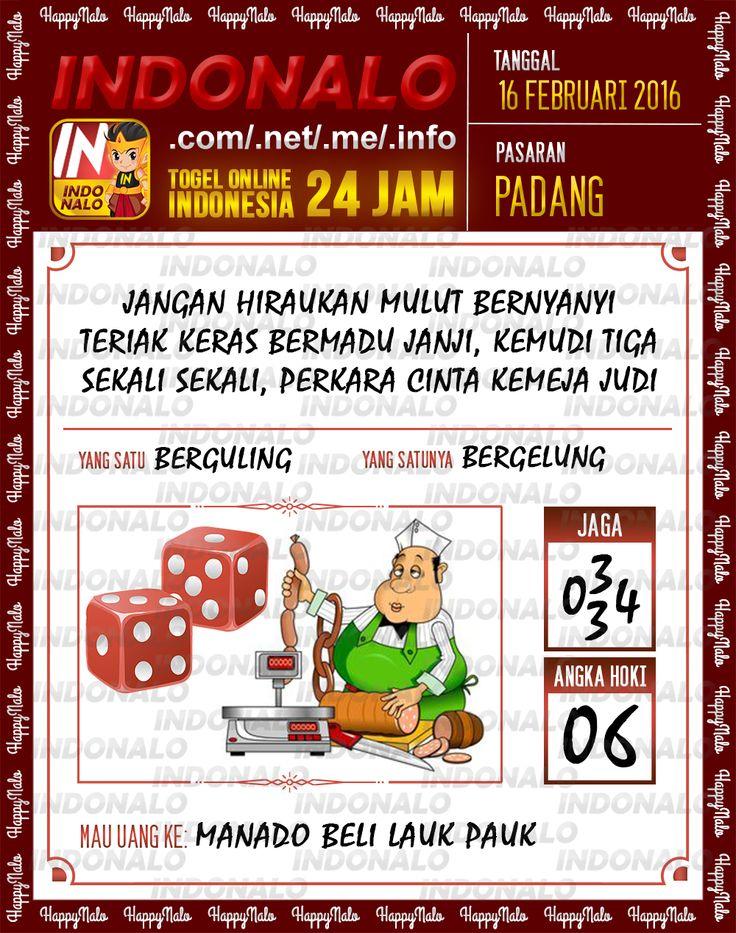 Prediksi Togel Online Indonalo Padang 16 Febuari 2016