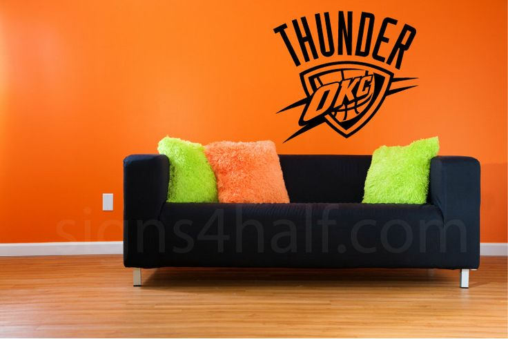 Removable Oklahoma City Thunder Team Wall Art Decor by Signs4Half, $25.00