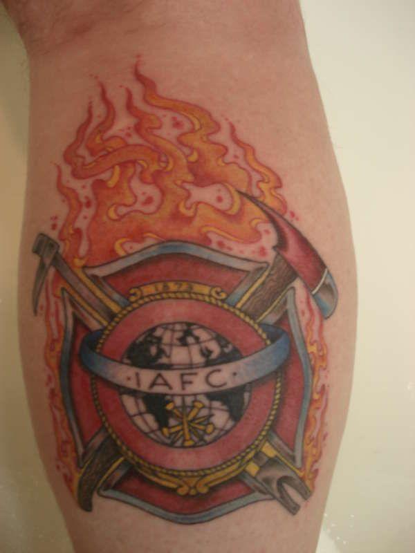 Maltese Cross With IAFC tattoo