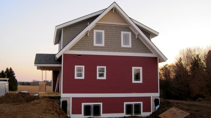 Red Vinyl Siding Houses Google Search Home Designs