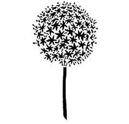 Dandelion Stencil Design Good Ideas Pinterest