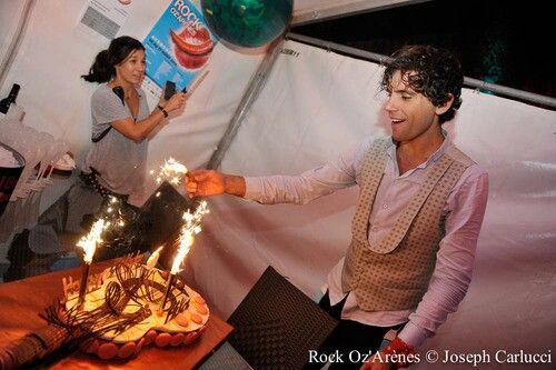 Fire Guitar ;) Mika's 30th birthday