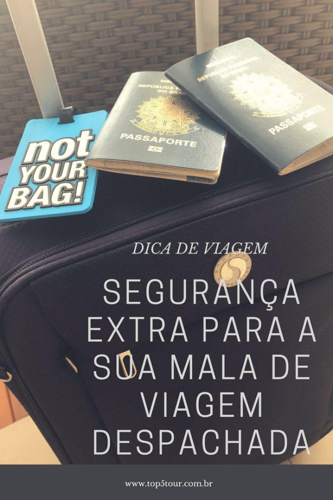 Confira essa dica de segurança extra para a sua mala de viagem que vai ser despachada.