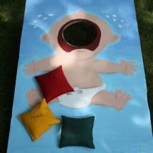 Baby Shower Corn Hole - hilarious!!!