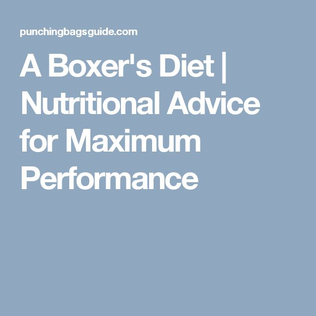 A Boxer's Diet | Nutritional Advice for Maximum Performance