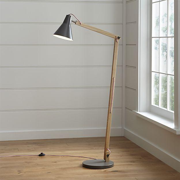 Rex Grey Floor Lamp Crate & Barrel $169. Matching desk lamp.
