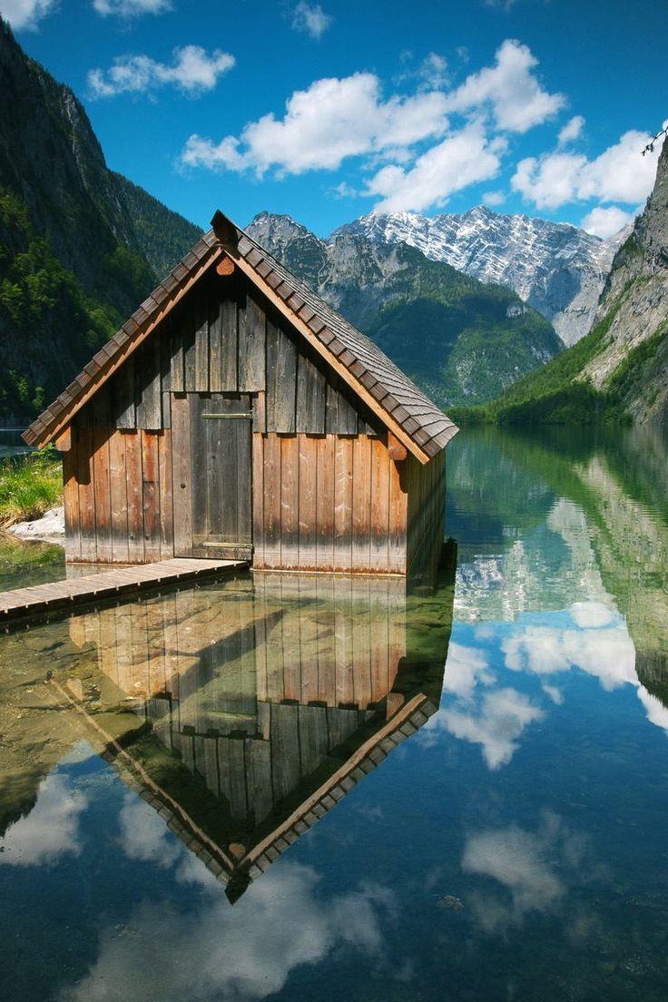 Boathouse Reflection, Germany