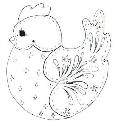 Cottage Crafts: 8 Free Folk Art Bird Patterns - for Embroidery - Applique - Sewing - Digital Art - Line Art - Clip Art - Scrapbooking