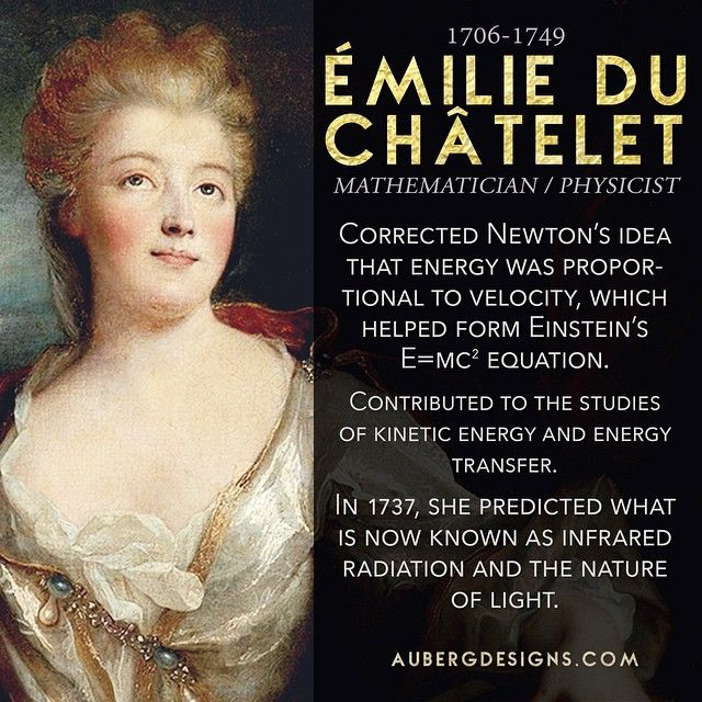 Today's #WomensHistoryMonth bio is Émilie du Châtelet! A fascinating mathematician. http://ift.tt/1B2Aa0w