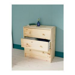 Working on the kid's room and this @IKEA piece is perfect at $35!!!! Staining or spray painting but I do love it bare. RAST 3 drawer chest - IKEA