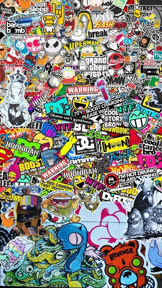 Fondos De Pantalla De Graffitis 3d Para Celular 4k Celular Fondodepantalla3dparacelula Sticker Bomb Wallpaper Graffiti Wallpaper Iphone Hypebeast Wallpaper