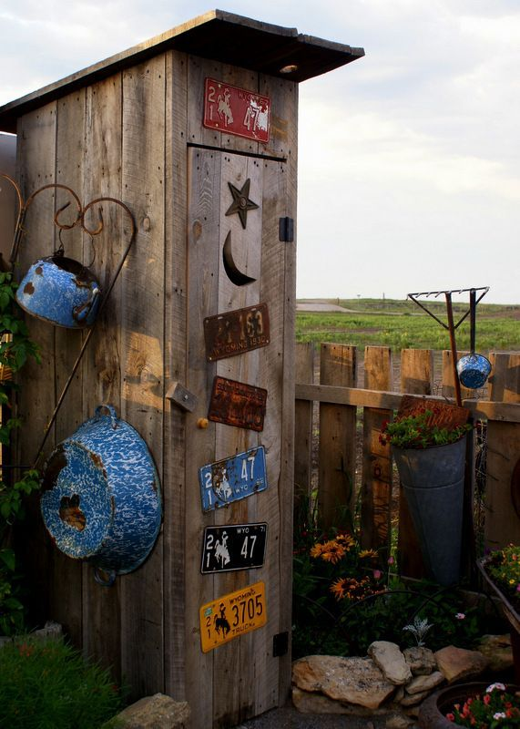 "Ranch Farmgirl blog - garden shed ""outhouse"". Ha ha What would the Neighbors think of this???"