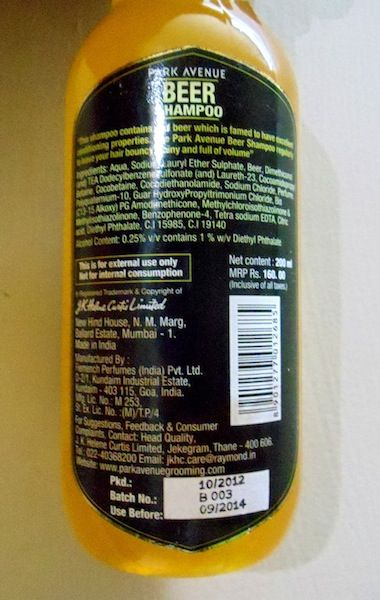 Park Avenue beer shampoo - My Experience
