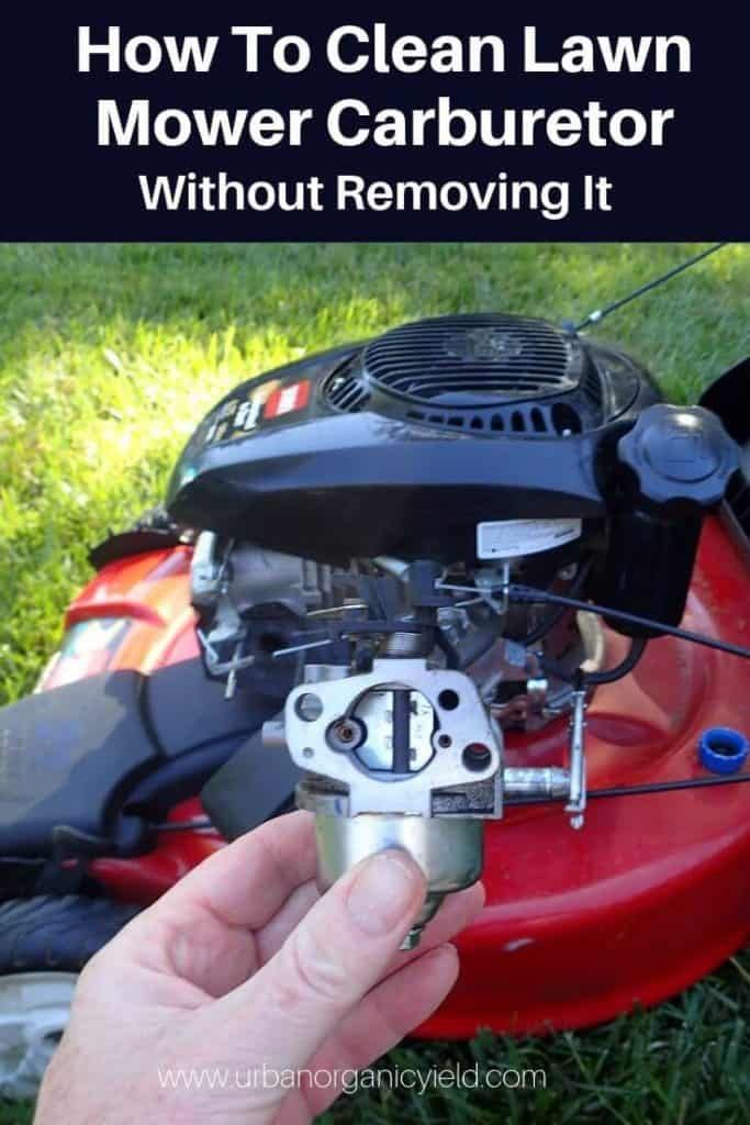 How To Clean A Carburetor On A Lawn Mower Without Removing It 2 Lawn Mower Lawn Mower Repair Lawn Mower Maintenance