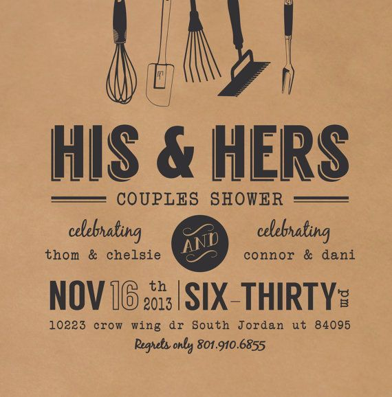 Rustic S Shower Invitation Kraft Wedding Invite Printable Invitations Printed