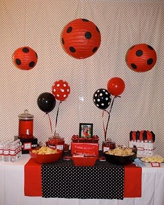 Black and red ladybug party