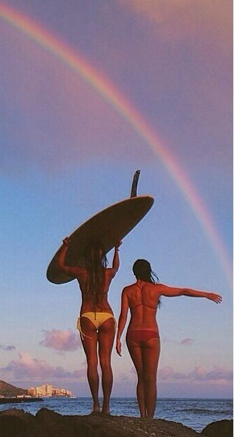 #surfing #rainbow #bikini | re-pinned by http://www.wfpblogs.com/category/southfloridah2o/