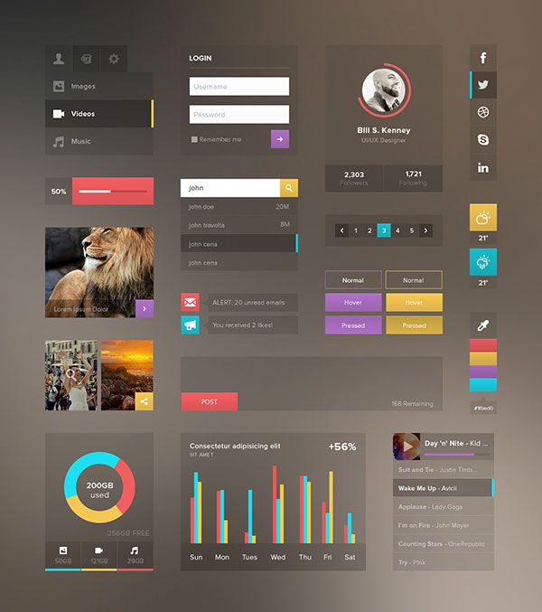 30 Clearly Cool Transparent UI Designs