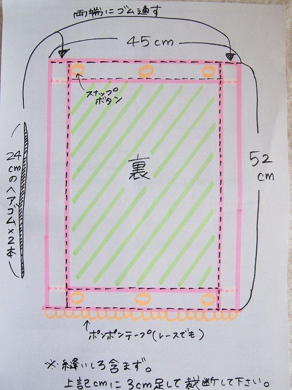 抱っこ紐カバーとよだれカバーの作り方 の画像|いくこのナチュゆら日記