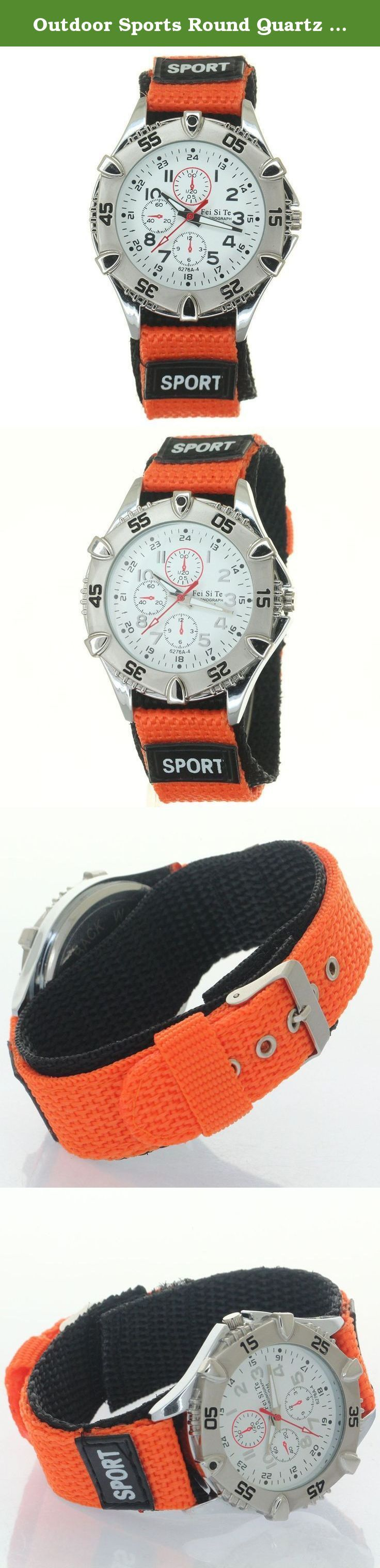 Outdoor Sports Round Quartz Watch Orange Woven Nylon Strap Stripe Fiber Velcro Decorate Chronograph. Outdoor Sports Round Quartz Watch Orange Woven Nylon Strap Stripe Fiber Velcro Decorate Chronograph Outdoor Sports Round Quartz Watch Orange Woven Nylon Strap Belt Stripe Fiber Fabric Velcro Buckle Sports Quartz Bezel Crown Men Women Wristwatch Nylon Strap Belt Stripe Fiber Fabric Velcro Buckle Woven Nylon Watch Strap Fabric Band Velcro Buckle Sports Quartz Bezel Crown Men Women Kid...