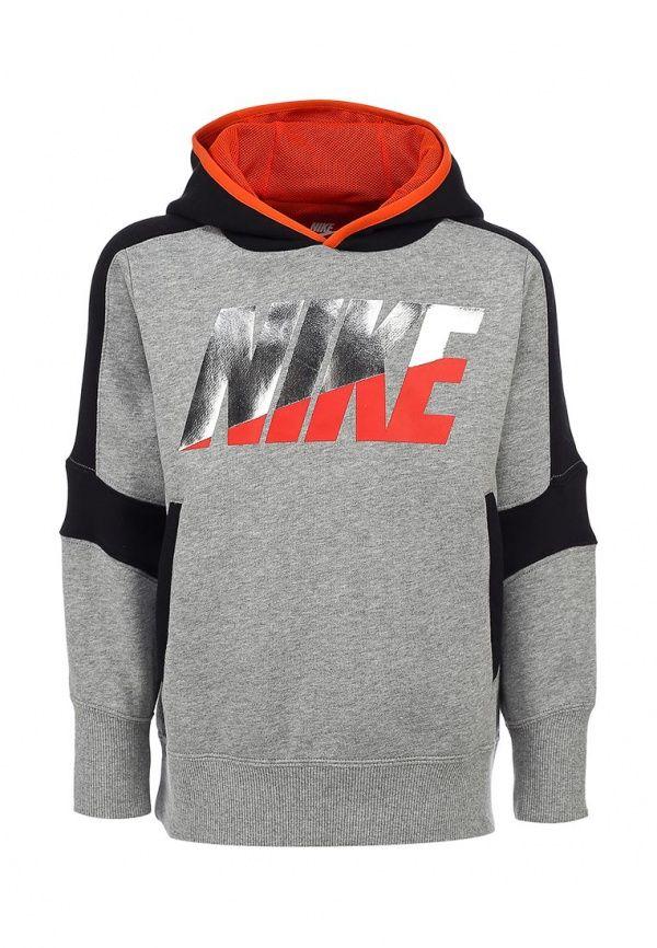 Худи Nike / Найк для мальчиков. Цвет: серый. Сезон: Весна-лето 2014. С бесплатной доставкой и примеркой на Lamoda. http://j.mp/Xhy1Pp