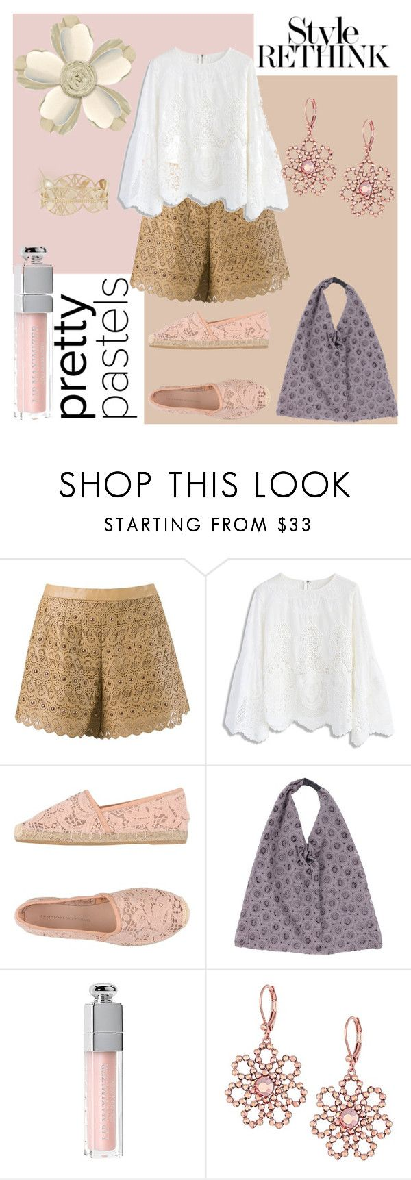 """""""Pastel Lace"""" by ladygroovenyc ❤ liked on Polyvore featuring Andrea Bogosian, Chicwish, Ermanno Scervino, Alpha Studio, Ultimate, Christian Dior, Kate Spade, Grace Lee Designs, lace and pastel"""