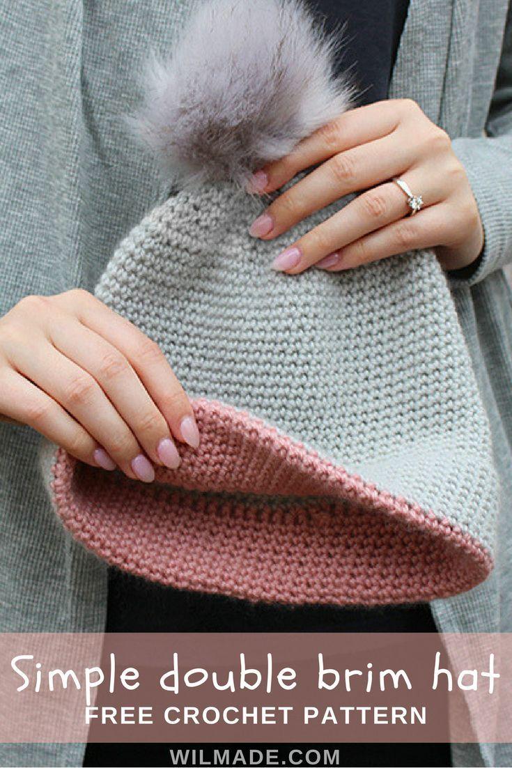 Chapéu de aba dupla - um padrão simples e livre de crochê