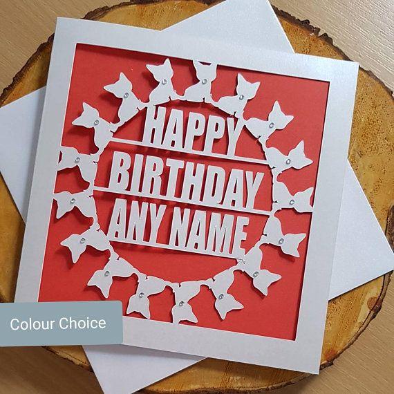 Personalised Birthday Card Grandma Mum Sister Aunty 50th 60th 70th 80th Cat
