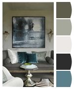 Sherwin Williams has a new tool : CHIP-IT matches paint color to any photograph.: Interior Design, Decor, Living Rooms, Livingrooms, Blue, Interiors, Benjamin Dhong, Art
