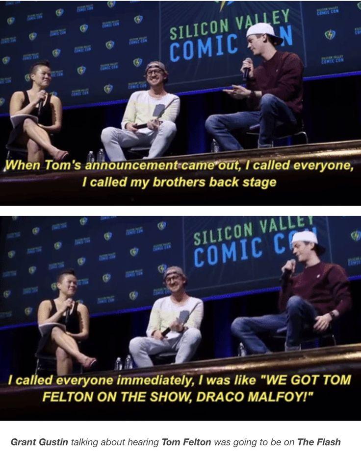 Tom Felton and Grant Gustin