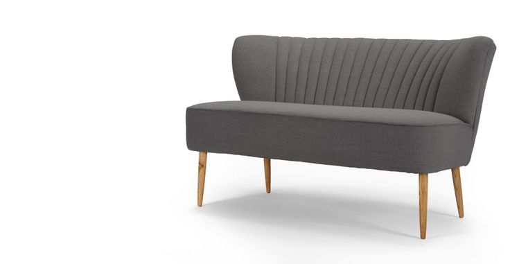 Jersey 2 Seater Sofa in graphite grey | made.com