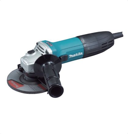 Makita GA5030 Angle Grinder     Small circumference barrel grip and ergonomically designed side grip angle for easy handling.     Labyrinth construction protects all ball bearings from dust and debris.     High quality motor with excellent heat-resistance.     Small gear housing provides easy handling and high maneuverability.     Field coated with powder varnish to protect from dust. For More Details: http://www.mrthomas.in/makita-ga5030-angle-grinder_53