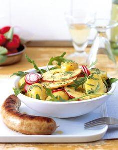 Rezept: Kartoffelsalat mit Radieschen und Apfel - [LIVING AT HOME]