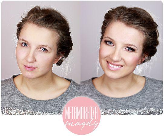 Alina Rose Makeup Blog: Metamorfoza Magdy: opadająca powieka, kącik, niebieskie oczy, makijaż 'troszkę ślubny':)