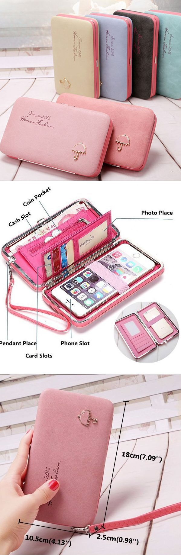 US$10.77 Universal Women Umbrella 5.5 Inch Phone Wallet Case Purse For IphoneXi