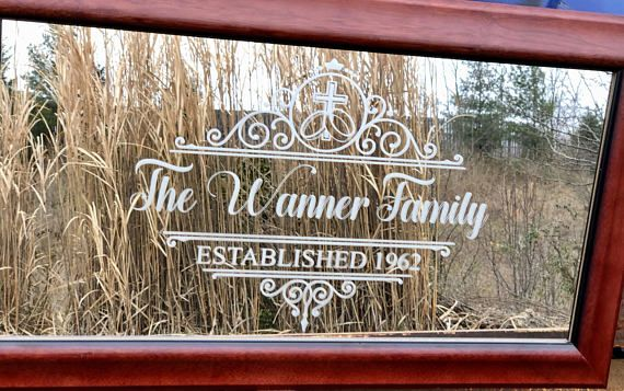 Custom Faith Family Mirror Large Mirror Personalized Bar