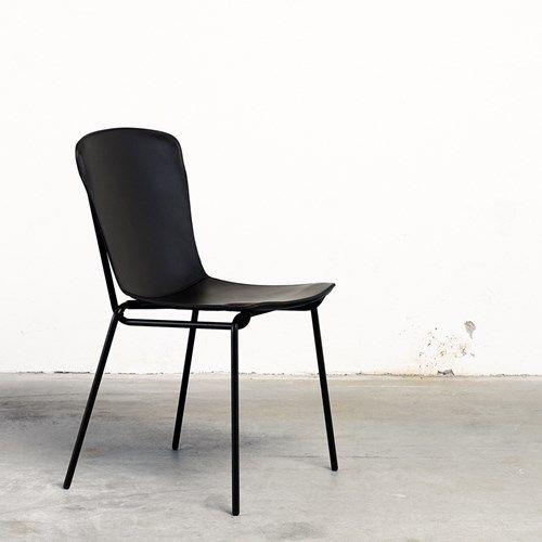 Hammock stol - Hammock stol - läder cognac, svart stålstativ