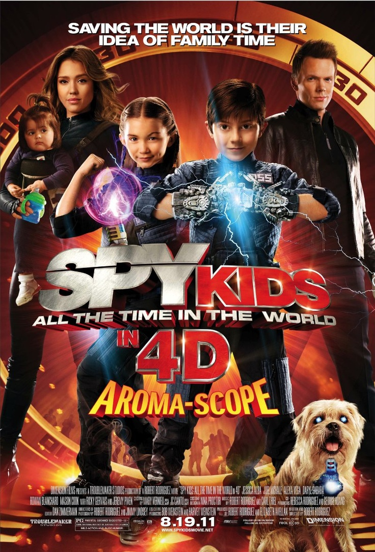 Spy Kids: All the Time in the World in 4D  (August 2011) PG