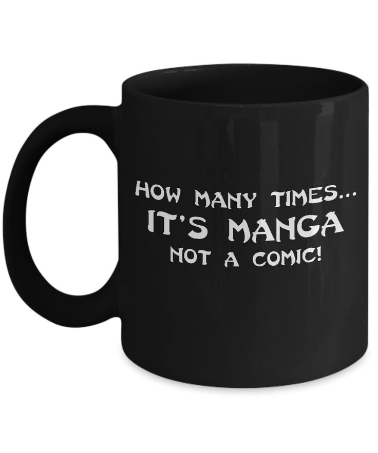 How Many Times...Manga Mug Black