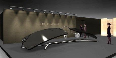 Sunglasses Armani stand, 2001 | design Domenico Raimondi + arch. Luisella Italia | www.facebook.com/thesignlab