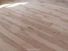 Jami at Freckled Laundry used Maple Plywood for affordable wood floors. Looks beautiful!