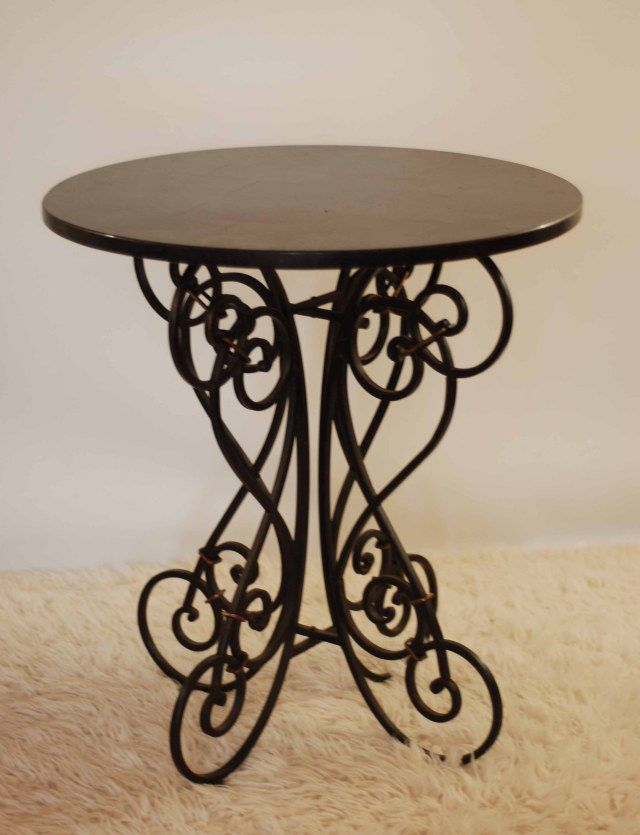 17 best ideas about wrought iron table legs on pinterest for Wood coffee table with wrought iron legs