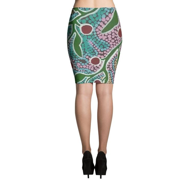 WILD CHERRY SMK Pencil Skirt