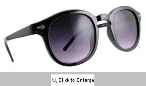 Aspen Rounded Sunglasses - 593 Black
